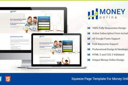Money Online Squeeze Page