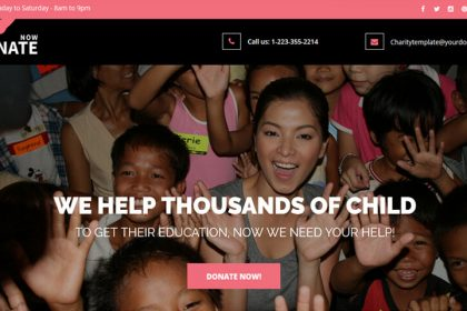 Landing Page Template For Charity