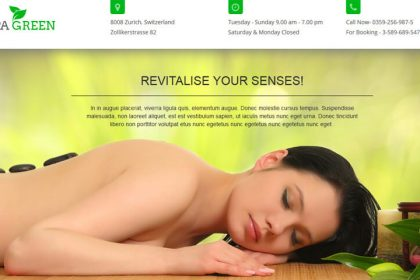 Spa Green Landing Page