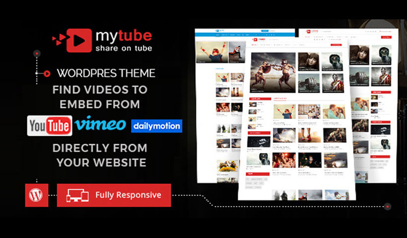 MyTube – Video WordPress Theme Website Template For Youtube, Vimeo & Daily  Motion Clips